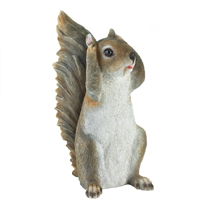 He doesn't want to hear it! This charming squirrel is covering his ears and has fantastic detailing to make this figurine look realistic for your home or garden.
