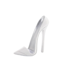 A stylish addition to your desk or vanity table, this dazzling white shoe phone holder will keep your phone close at hand. The chic high heel shoe design offers fashion and function, making it a great tabletop dcor piece. The shoe cell phone holder fits most standard size phones standing up so you can watch videos and tutorials on your phone hands-free. Phone not included.